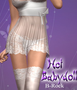Hot Babydoll 3D Figure Assets B-Rock