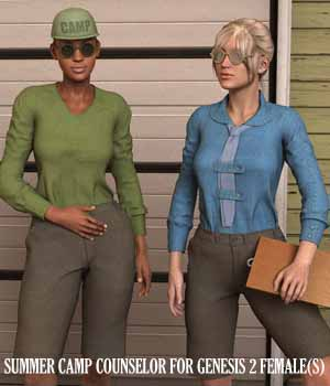 Summer Camp Counselor for Genesis 2 Female(s) 3D Figure Assets Oskarsson