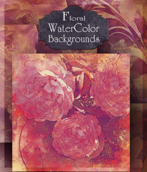 Floral Watercolor Backgrounds 2D antje