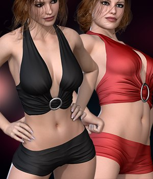 Halter Top Shirt for V4A4G4Elite 3D Figure Assets RainbowLight