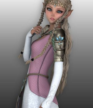 Elf Princess for Genesis 2 Females 3D Figure Assets WildDesigns
