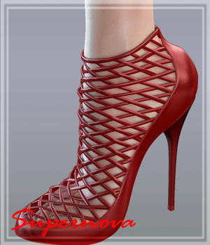 Woven Fashion Shoes 3D Figure Assets -supernova-