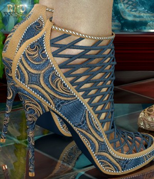 Woven Fashion Shoes - Reflections 3D Figure Assets renapd