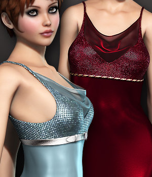 Vision: Alondra Gown 3D Figure Assets ArtOfDreams