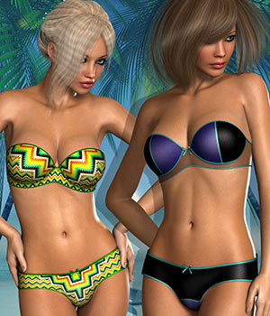 Summertime for Strapless Bra by Atenais