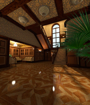 AJ Wood Paneled Lobby 3D Models -AppleJack-
