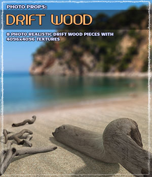 Photo Props: Driftwood 3D Models ShaaraMuse3D