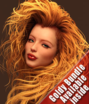 SAV Goldy Hair G2Females 3D Figure Assets StudioArtVartanian