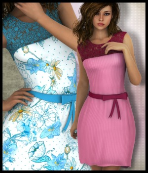 Laurel Dress for G2F 3D Figure Assets 3-DArena