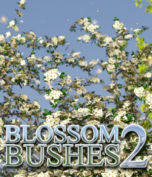 Flinks Blossom Bushes 2 3D Models Flink