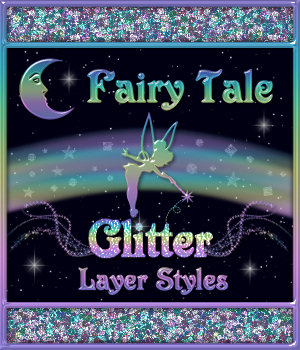 BLING! GLAMOUR GLITTER-Fairy Tale Layer Styles with Bonus 2D Merchant Resources fractalartist01