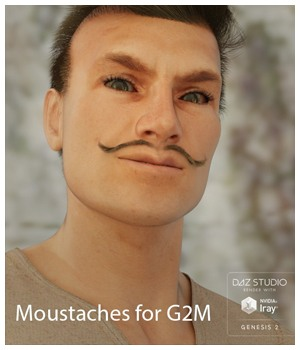 Moustaches for G2M 3D Figure Assets Nathalie_