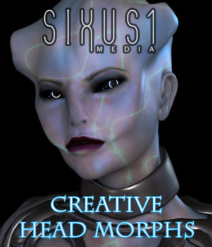 S1M Scarlet: Creative Head Morphs 3D Figure Assets Merchant Resources sixus1