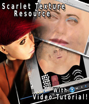 S1M Scarlet: Developer's Resource - Texturing with bonus instructional videos 2D Graphics Merchant Resources sixus1