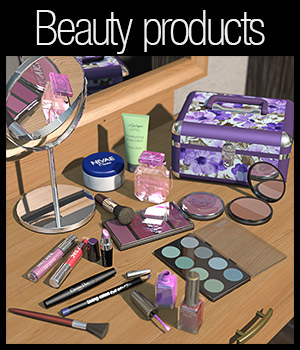 Everyday items, Beauty products 3D Figure Essentials 3D Models 2nd_World