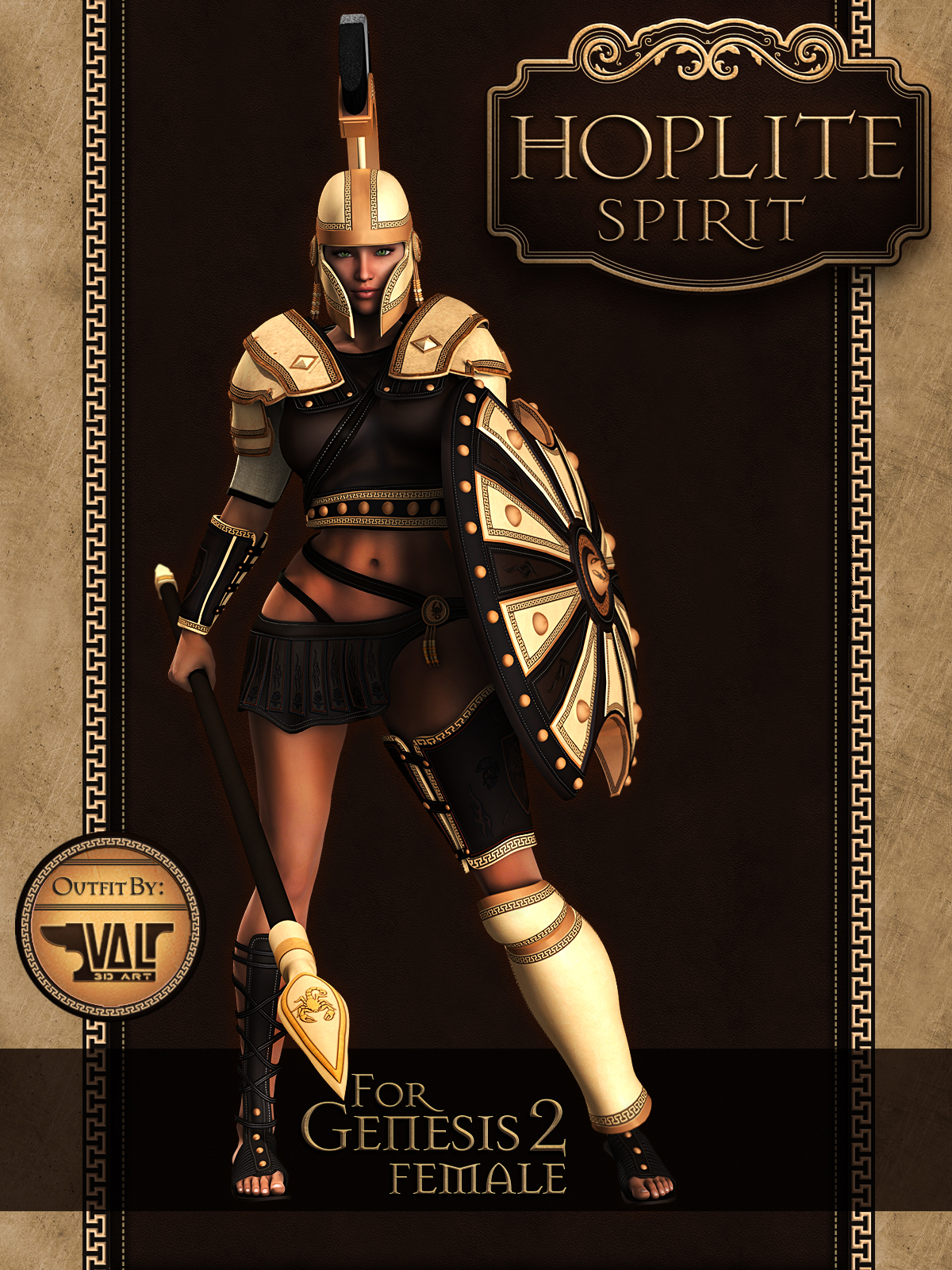 Hoplite Spirit for Gen2Fem 3D Figure Assets 3D Models
