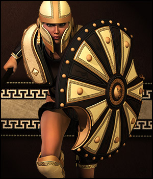 Hoplite Spirit for Gen2Fem 3D Figure Essentials 3D Models Val3dArt