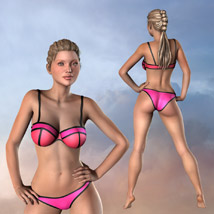 Neon Bikini Swimsuit for Gen2 image 5