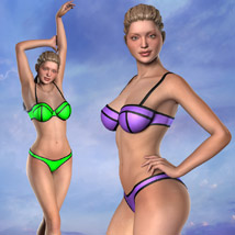 Neon Bikini Swimsuit for Gen2 image 7