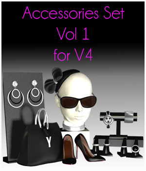 Acceessories Set vol 1 for V4 by ICRDesign