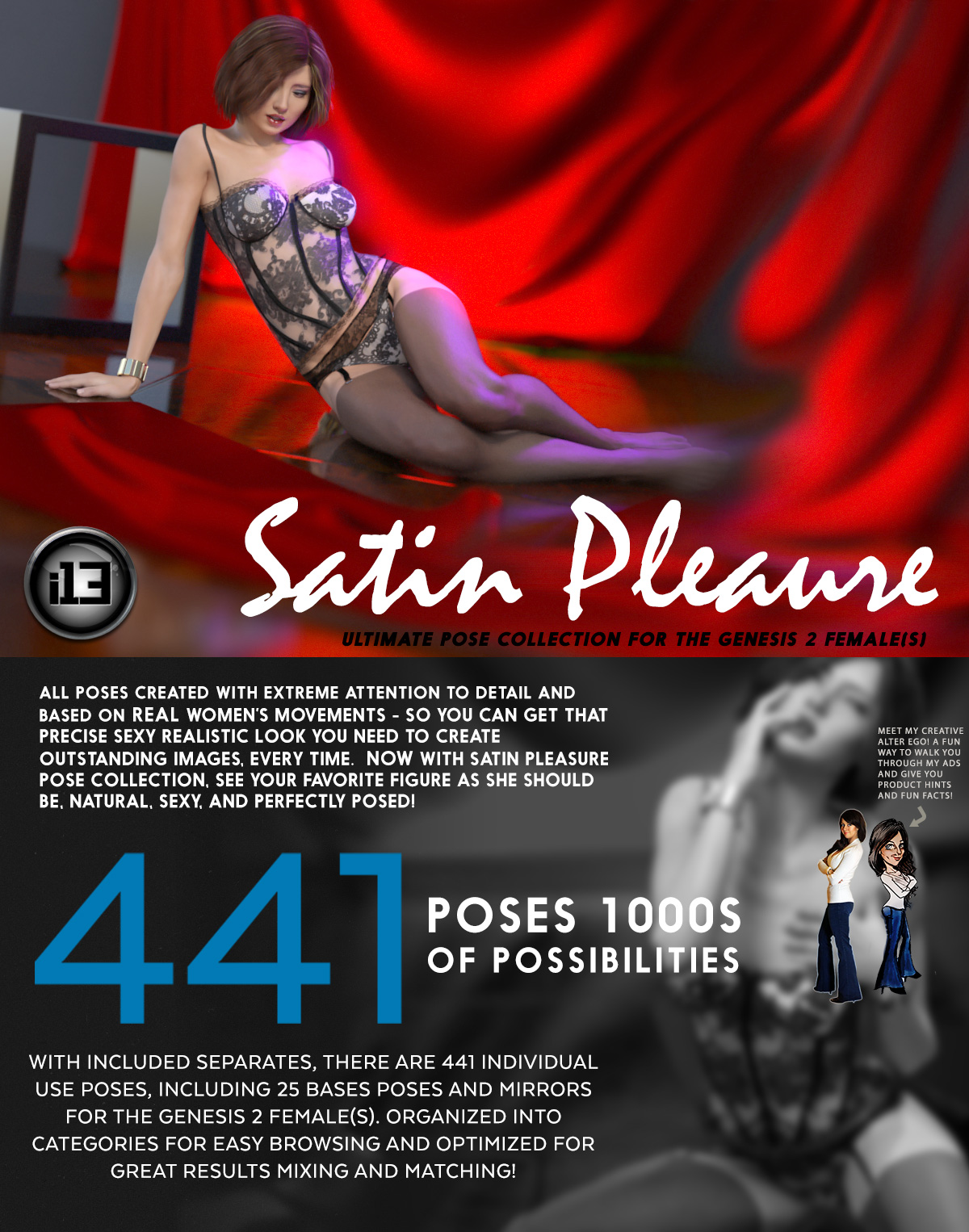i13 Satin Pleasure Pose Collection for G2F/V6 by biglovepose