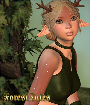 Forest Tales - V4/A4 Outfit 3D Figure Essentials P3D-Art