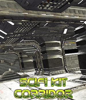 SciFi Corridor kit 3D Models powerage