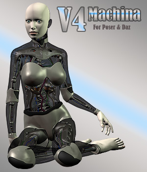 V4 Machina Robot 3D Figure Assets Simon-3D