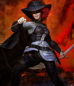 S1M Scarlet: Witch Hunter 3D Figure Assets sixus1