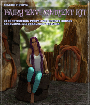 Macro Props: Fairy Environment Kit 3D Models ShaaraMuse3D