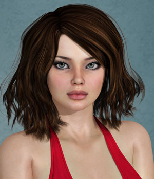 Zani Hair for V4 and G2 3D Figure Essentials SWAM