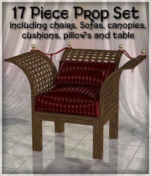 Trellis Furniture Prop Set 3D Models Lully