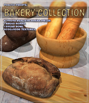 Photo Props: Bakery Collection 3D Models ShaaraMuse3D