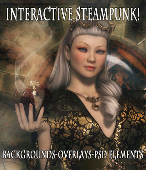 Interactive Steampunk Backgrounds 2D Graphics AelarethElennar