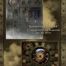 Interactive Steampunk Backgrounds image 1