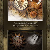 Interactive Steampunk Backgrounds image 2