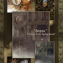 Interactive Steampunk Backgrounds image 5