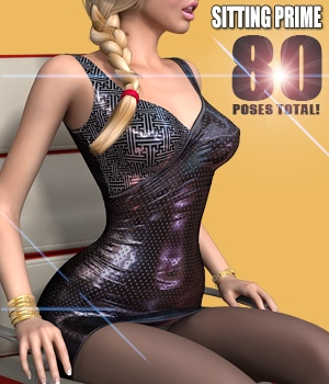 Sitting Prime - Poses for V4 3D Figure Essentials $3.99 Sale Items Week 2 hameleon