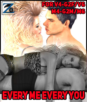 Z Every Me Every You - V4-V6-G2F-M4-M6-G2M 3D Figure Essentials Zeddicuss