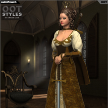 ROYAL STYLES for Arthurian Outfit for Genesis 2 Female(s) image 1