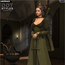 ROYAL STYLES for Arthurian Outfit for Genesis 2 Female(s) image 3