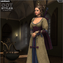 ROYAL STYLES for Arthurian Outfit for Genesis 2 Female(s) image 5