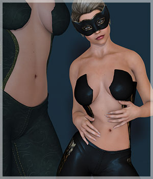Kitty Kat for KatSuit 3D Figure Assets Belladzines
