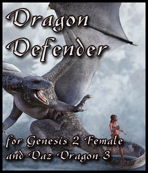 Dragon Defender for G2F & Daz Dragon 3 3D Figure Essentials -dragonfly3d-