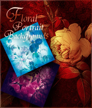 Floral Portrait Backgrounds by antje