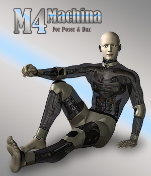 M4 Machina Robot 3D Figure Essentials Simon-3D