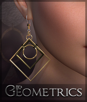 SV's Geometrics Earrings 3D Figure Essentials Sveva