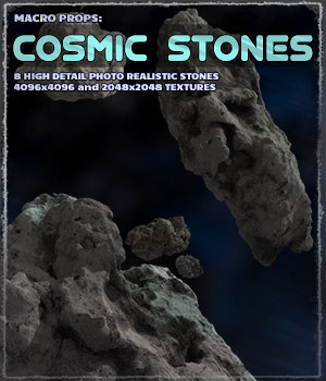 Photo Props: Cosmic Stones 3D Models ShaaraMuse3D