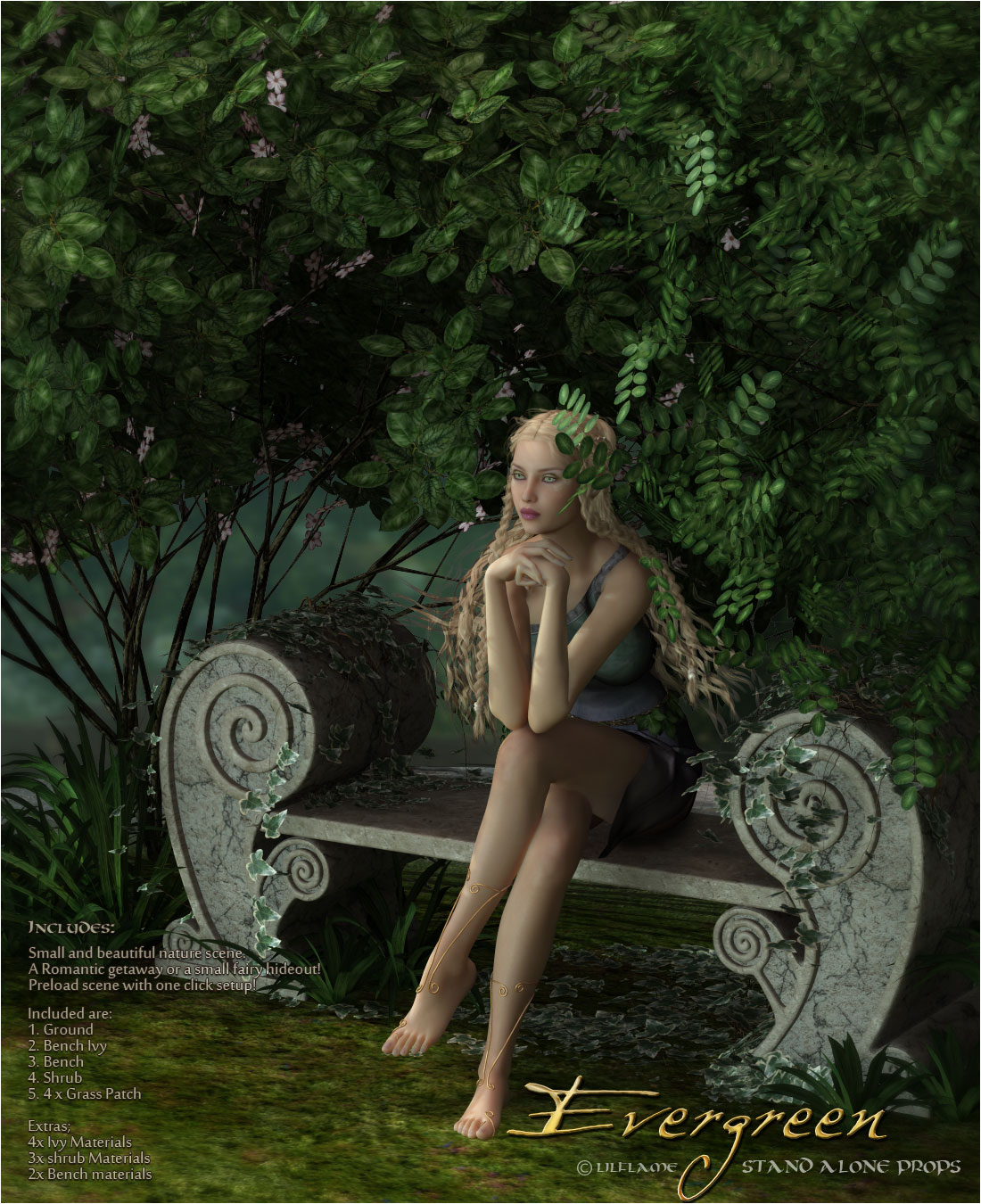 Evergreen for Poser by lilflame