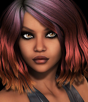 Mane Concern: Zani Hair 3D Figure Essentials 3DSublimeProductions